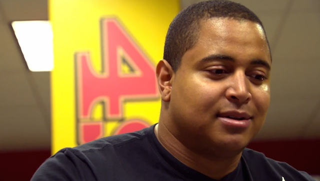 Jonathan Martin is hoping to put together at least a 10-year NFL career. (49ers.com)