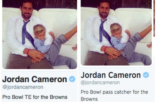 Can you spot the difference? (Twitter/@JordanCameron)