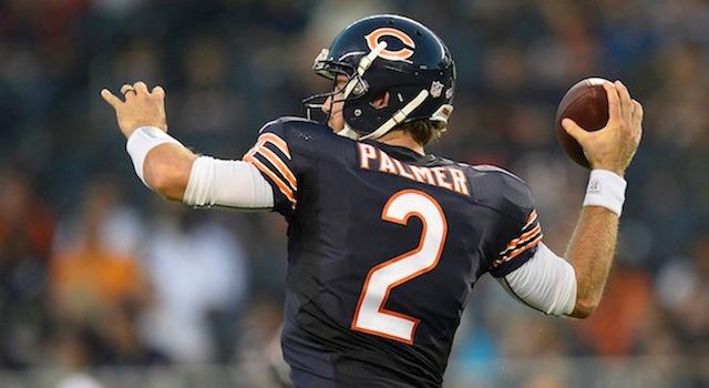 Jordan Palmer is heading back to Chicago. (USATSI)
