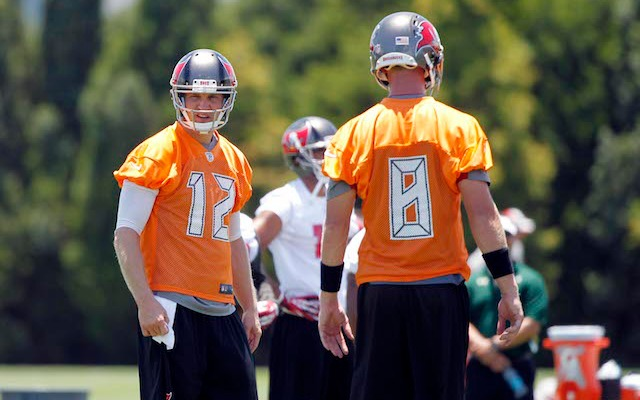 Josh McCown [12] is playing 'on another level' compared to Mike Glennon. (USATSI)
