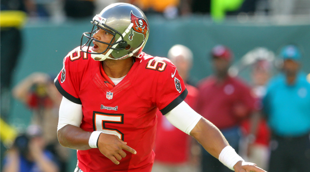 Will Josh Freeman and the Buccaneers upset the Patriots in New England? (USATSI)