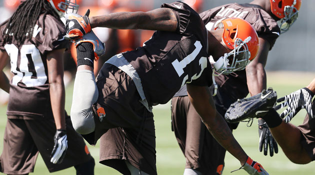 Browns wideout Josh Gordon was suspended two games by the NFL for violating the league's substance-abuse policy. (USATSI)