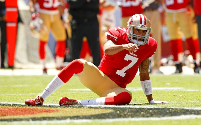 Colin Kaepernick says he played part of 2013 with a foot injury. (USATSI)