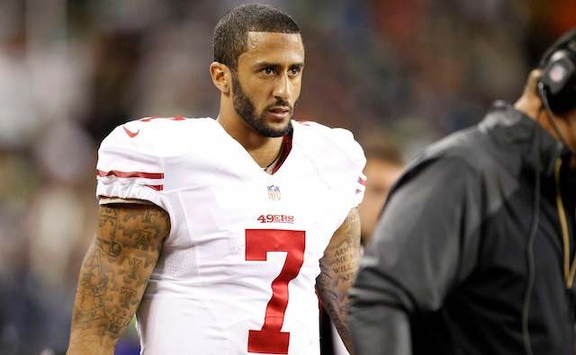 Colin Kaepernick seemed frustrated by the Seahawks defense. (USATSI)