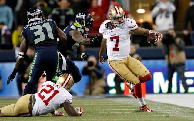 It was a rough second half for 49ers quarterback Colin Kaepernick. (USATSI)