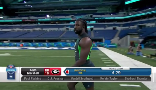 Keith Marshall was smoking fast at the NFL combine. (NFL Network)