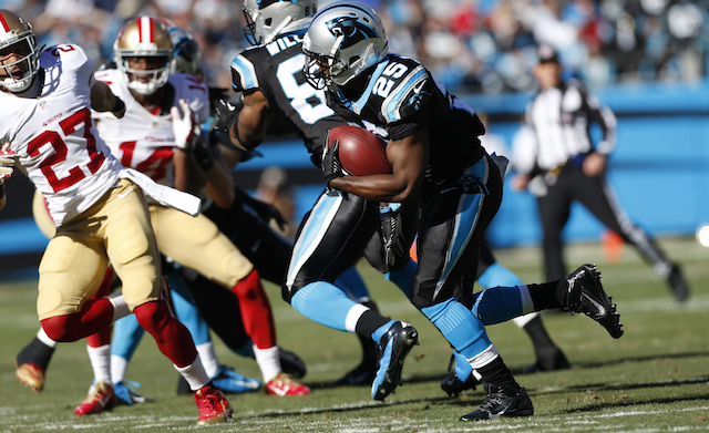 The Panthers traded Kenjon Barner to the Eagles on Tuesday.