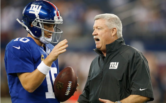 Giants offensive coordinator Kevin Gilbride has decided to hang up his clipboard. (USATSI)