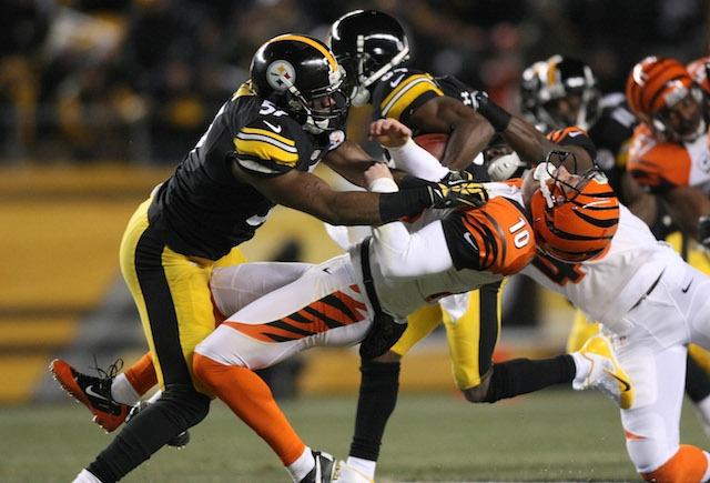 Bengals punter Kevin Huber gets destroyed on Steelers return TD ... ac8a7d5d54b8