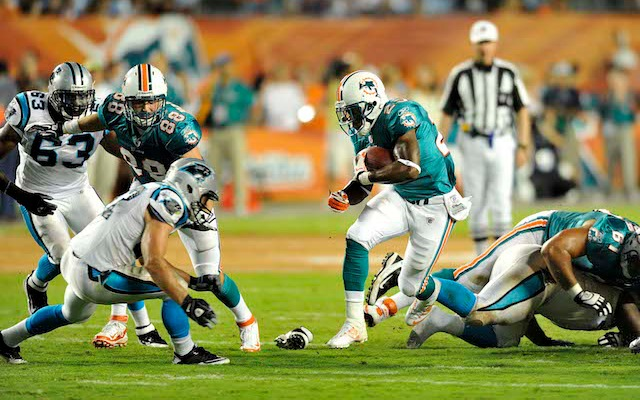 Former Dolphins running back Kory Sheets is back in the NFL after two seasons in the CFL. (USATSI)