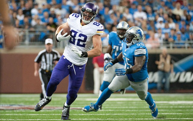Kyle Rudolph has a new deal in Minnesota. (USATSI)