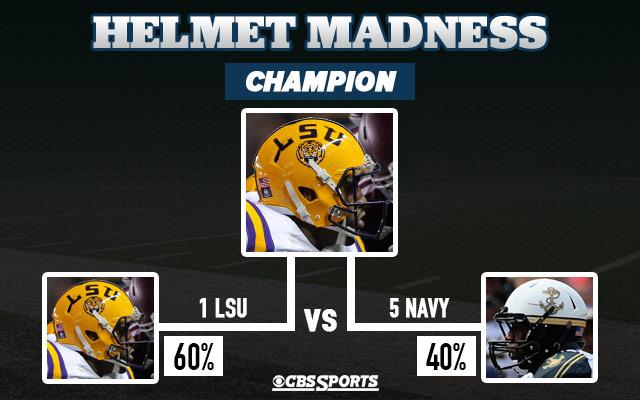 Helmet Madness College Football Bracket Lsu Tigers Take The Title