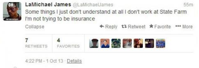 The now-deleted LaMichael James tweet. (CSN Bay Area)