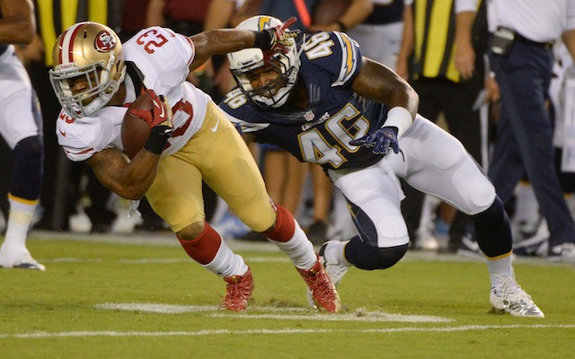 LaMichael James seems to be frustrated with his playing time in San Francisco. (USATSI)