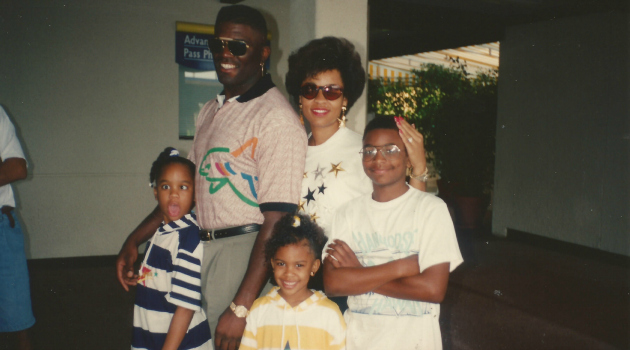 Lawrence Taylor and family on vacation.
