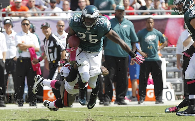 Watching LeSean McCoy play won't be cheap this week. (USATSI)