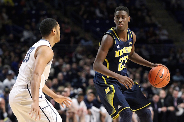 Caris LeVert's season is over, so draft questions will now begin. (USATSI)