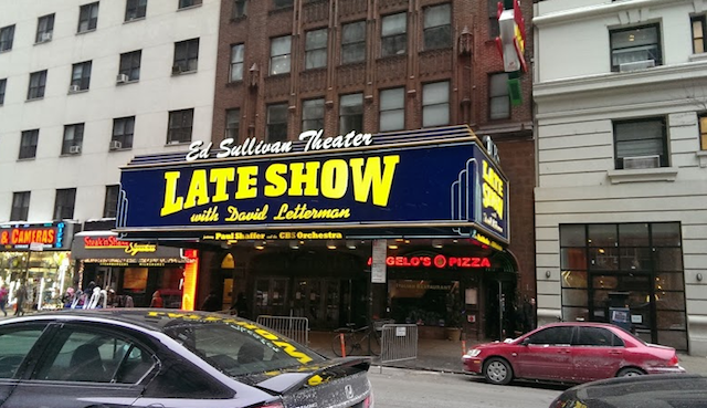 The Ed Sullivan Theater has hosted dozens of NFL players. (CBSSports.com/John Breech)