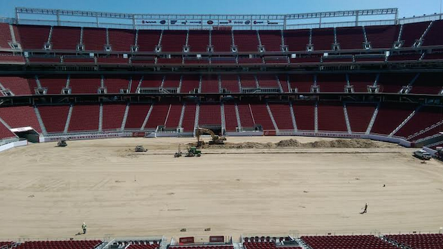 The field at Levi's has been torn out more than once. (CBSSports.com)
