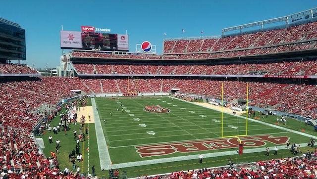 This is what the sod looked like at the 49ers preseason home opener. (CBSSports.com)