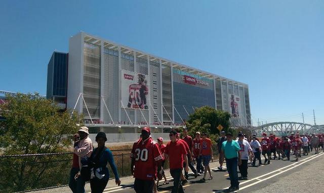A fan died after suffering a cardiac emergency at Levi's Stadium on Sunday. (John Breech CBSSports.com)