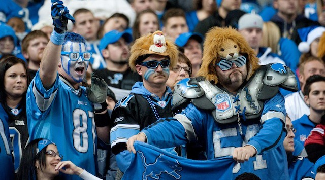If Lions fans don't look happy, it's probably because of the beer prices in Detroit. (USATSI)