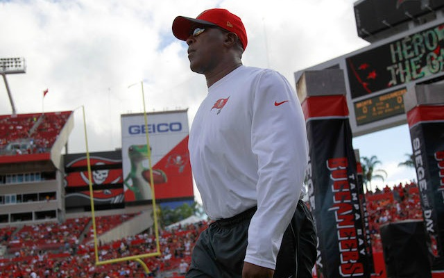 Lovie Smith was surprisingly fired on Wednesday night. (USATSI)