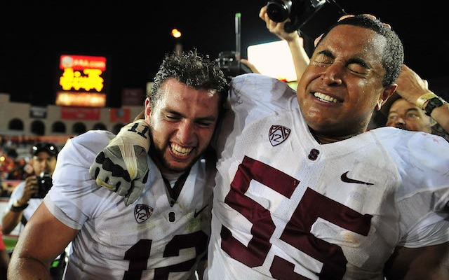 Andrew Luck and Jonathan Martin were teammates at Stanford. (USATSI)