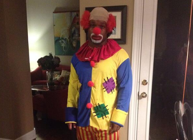 Maurice Jones-Drew's Halloween costume: Homey D. Clown. (Twitter)
