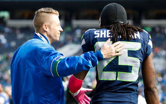 Macklemore has been spending a lot time around the Seahawks. (USATSI)