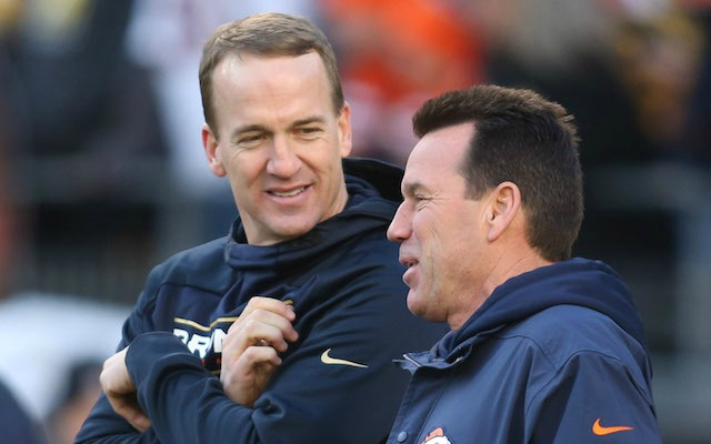 Gary Kubiak has decided that Peyton Manning will be the Broncos backup QB. (USATSI)