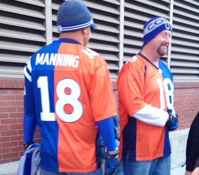 peyton manning blue broncos jersey