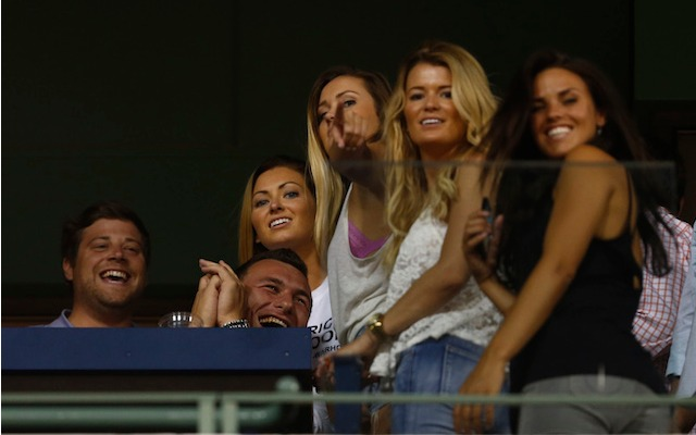Johnny Manziel had several friends with him at the Red Sox game on Wednesday. (USATSI)