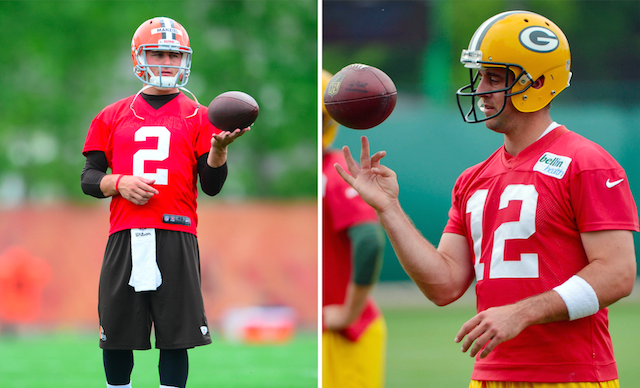 Donte Whitner sees some similarities between Johnny Manziel and Aaron Rodgers. (USATSI)