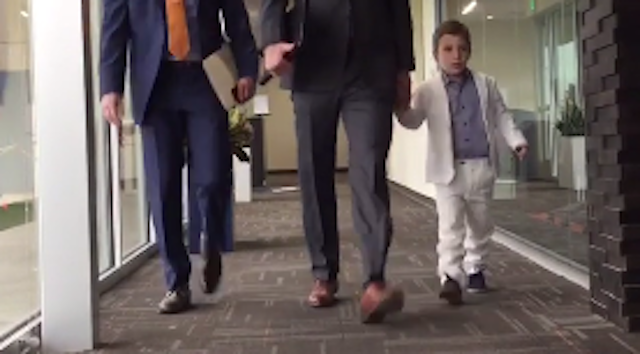 Marshall Manning stole the show on Monday. (Twitter)