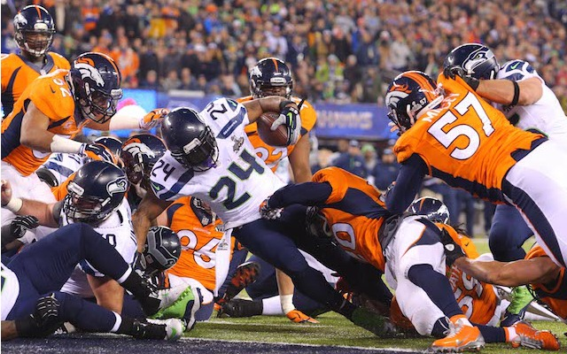 Could this have been Marshawn Lynch's final touchdown as a Seahawk? (USATSI)