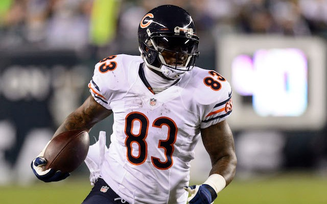 Do not try and strip the ball from Martellus Bennett, especially if you're on his team. (USATSI)