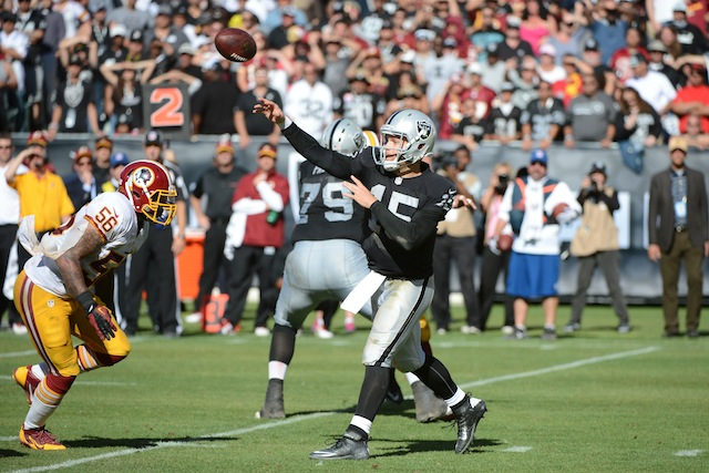 Matt Flynn won't be throwing anymore passes in Oakland. (USATSI)