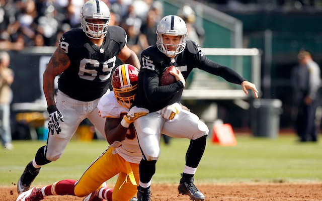 Matt Flynn's struggles were evident to everyone on Sunday, including Raiders coach Dennis Allen. (USATSI)