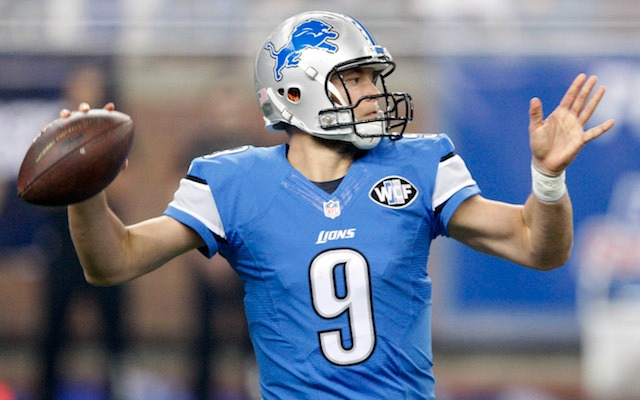 41a7803efa9 Matthew Stafford could be wearing a different shade of blue in 2017.  (USATSI)