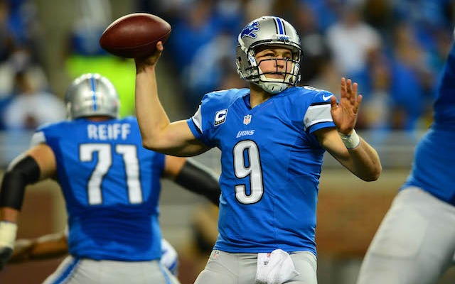 Matthew Stafford was three the last time the Lions and Bears played for first place in Week 10. (USATSI)