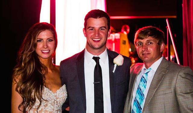 AJ McCarron and Katherine Webb tied the knot on Saturday. (Facebook/DustinRudzinski)