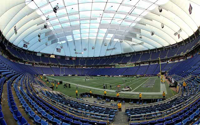 The Metrodome doesn't have a roof anymore and it's a lot less purple. (USATSI)