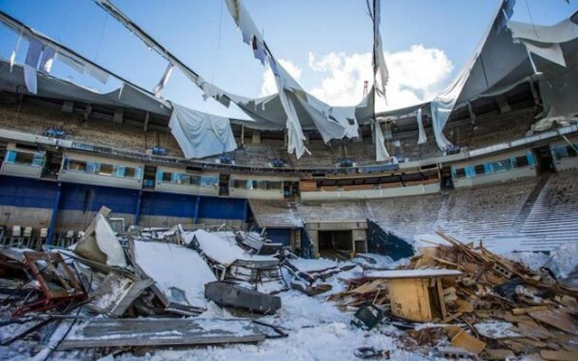 The Metrodome is being reduced to a pile of rubble. (Twitter/@Vikings)