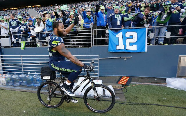 This really was the best bike ride of Michael Bennett's life. (USATSI)