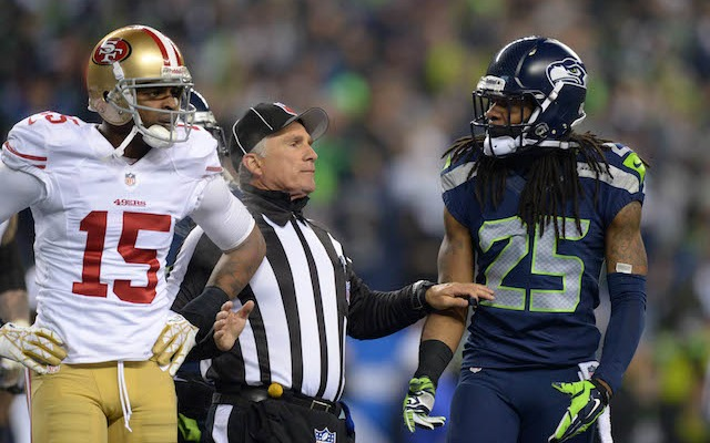 There's no love loss between Michael Crabtree and Richard Sherman. (USATSI)