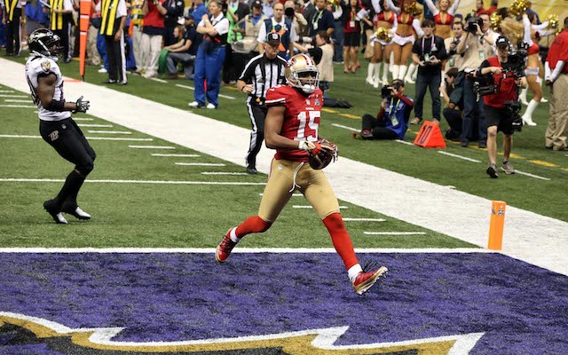 The last time Michael Crabtree was on the field, the 49ers almost won the Lombardi Trophy. (USATSI)