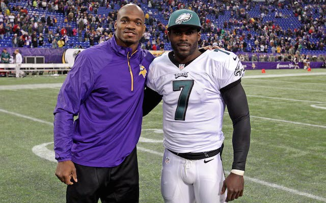 Will Michael Vick be joining Adrian Peterson in Minnesota? (USATSI)
