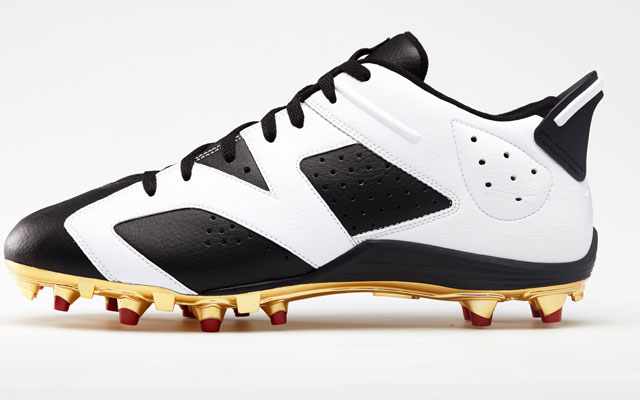 Michael Crabtree's custom Jordan Brand cleats.