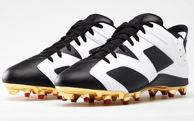 Michael Crabtree's custom Jordan Brand cleats for Sunday.